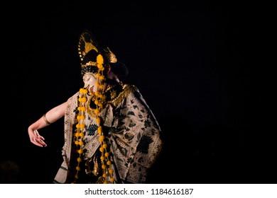 Traditional Mask Dance Losari, Cirebon, Indonesia