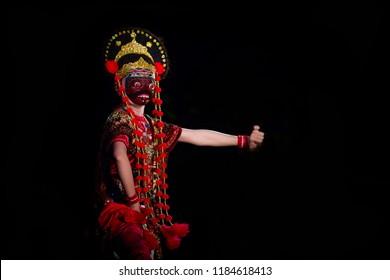 Traditional Mask Dance Nani Topeng Losari, Cirebon, Indonesia