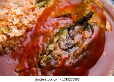 Traditional mexican chiles rellenos