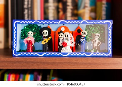 Traditional Mexican crafts of Day of the Dead (Dia de Muertos).
