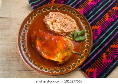 Traditional mexican food: chiles rellenos