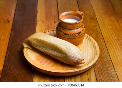 Traditional mexican food. Tamales
