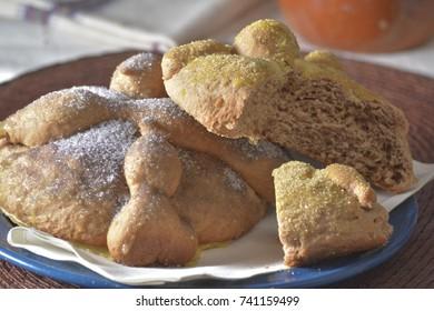 Traditional mexican Pan de Muerto