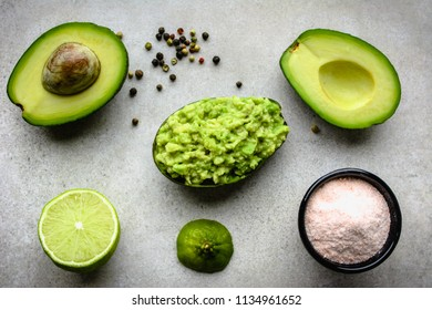 Traditional mexican sauce - guacamole with avocado, party food for sharing