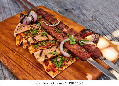 Traditional middle eastern kebab