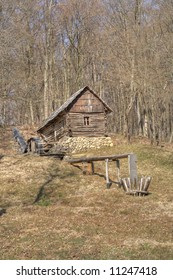 Traditional mill from Romania, at the ASTRA Ethnographic Museum in Sibiu, Romania.