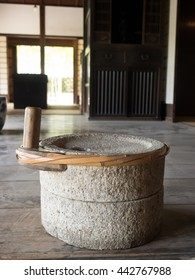 Traditional millstone of Japan