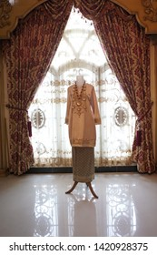 Traditional minang wedding dress for brides in padang, sumatra barat- Indonesia