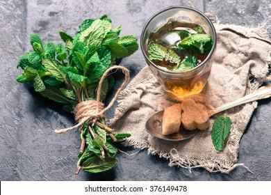 Traditional mint tea/toned photo