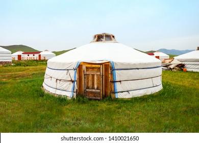 Traditional mongolian yurt in the center of Ulaanbaatar, Mongolia