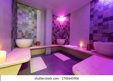 Traditional Moroccan bath in a spa