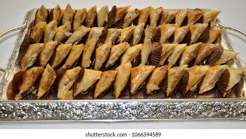 Traditional Moroccan cookies served during Ramadan - Almond Briouats