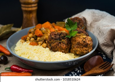 traditional moroccan dish couscous Meat ball