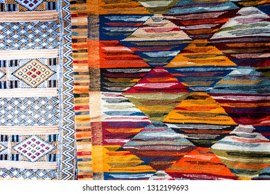 Traditional Moroccan fabric made by hand in Marrakesh