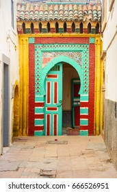 Traditional Moroccan old door in medina. Essaouria, Morocco