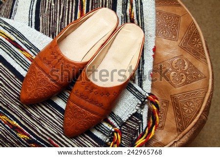 6a9a049ecc5 Traditional Moroccan Shoes Stock Photo (Edit Now) 242965768 ...