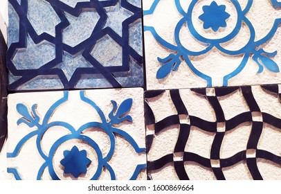 Traditional moroccan zellige floor tile