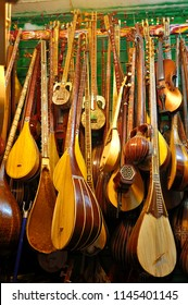 traditional musical instrument of Uygur for sale in the market in Xinjiang, China