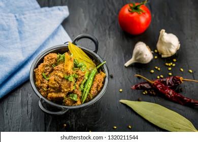 Traditional Mutton Curry or  Masala Gosht or indian lamb rogan josh
