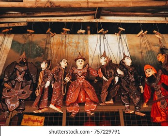 Traditional Myanmar  puppet doll (Burmese marionettes)