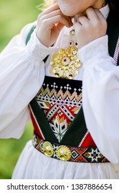 Traditional national Costume Bunad from Fana in Bergen, Norway
