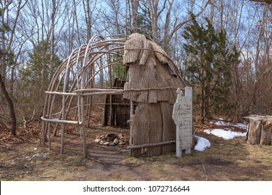 A traditional native American dwelling - a dome-shaped hut or tent made by fastening mats, skins, or bark over a framework of poles, used by some North American Indian peoples.