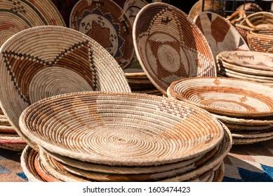 traditional nature basket  handwork souvenir