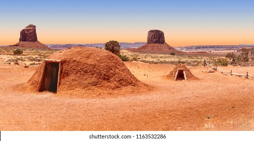 Traditional Navajo home, known as a hogan, Monument Valley, Arizona