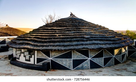 Traditional Ndebele hut, Botshabelo, Mpumalanga, South Africa