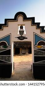 Traditional Ndebele hut at Botshabelo near Mpumalanga - 07 September 2013 South Africa