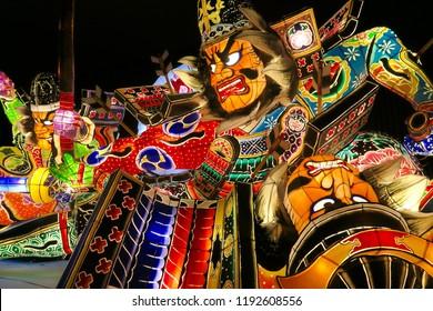 Traditional Nebuta festival in Aomori Japan