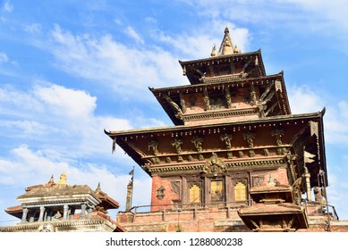 Traditional Nepali Architecture of Taleju Temple at Kathmandu Durbur Square in Nepal