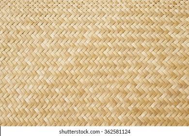 Traditional New Zealand flax weaving, detail of a woven mat.