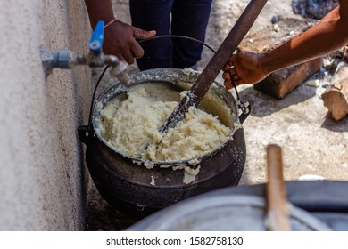 Traditional Nigerian Fufu made from cassava