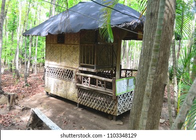 Traditional nipa house in the Philippines.