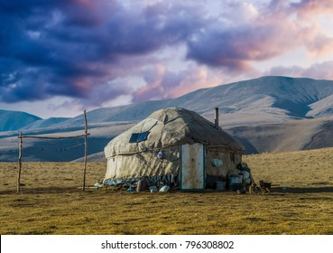 Traditional nomadic house, Kazakhstan