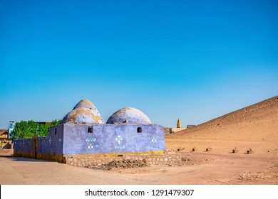 traditional Nubian building in the desert of Egypt
