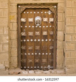 Traditional Old Arabic Style Door in Timbuktu