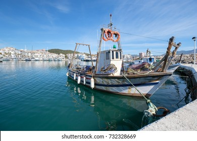 Traditional old Fishing Boat in a harbour.