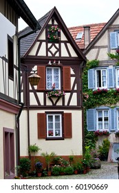 Traditional old German houses with timber framing