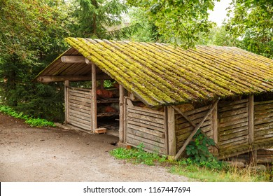 Traditional old granary at Skansen park, the first open-air museum and zoo, located on the island Djurgarden in Stockholm, Sweden.