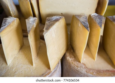 Traditional Old Sliced Turkish Kars cheddar cheese and cheese blocks are for sale on merchant