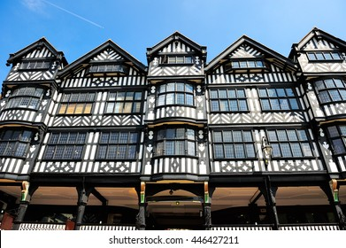 Traditional old Tudor English style houses in Chester, England, UK