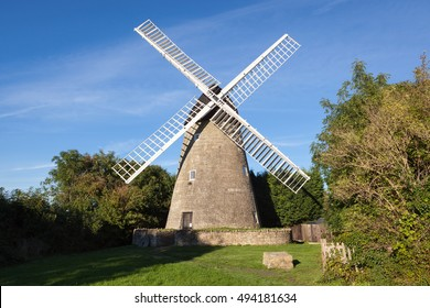 Traditional old windmill in Buckinghamshire, UK