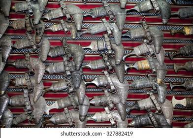 Traditional omani silver daggers