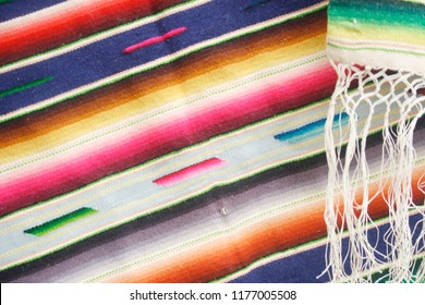 Traditional and original Sarape from Saltillo, Mexico.