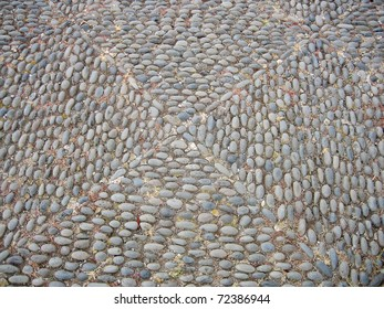 Traditional ornaments made of paving stones