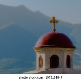 Traditional Orthodox Christian Paraklis located on the Pletvar uphill in Macedonia
