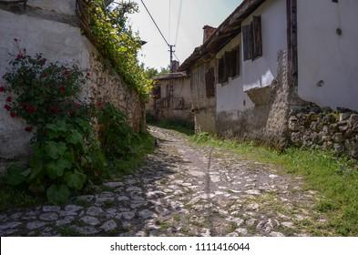 Traditional Ottoman house in Safranbolu, Turkey.Safranbolu A view from the village of Yoruk Village.