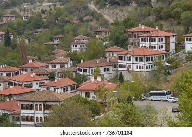 Traditional ottoman houses in Safranbolu, Turkey October 13, 2017, Karabuk, Turkey